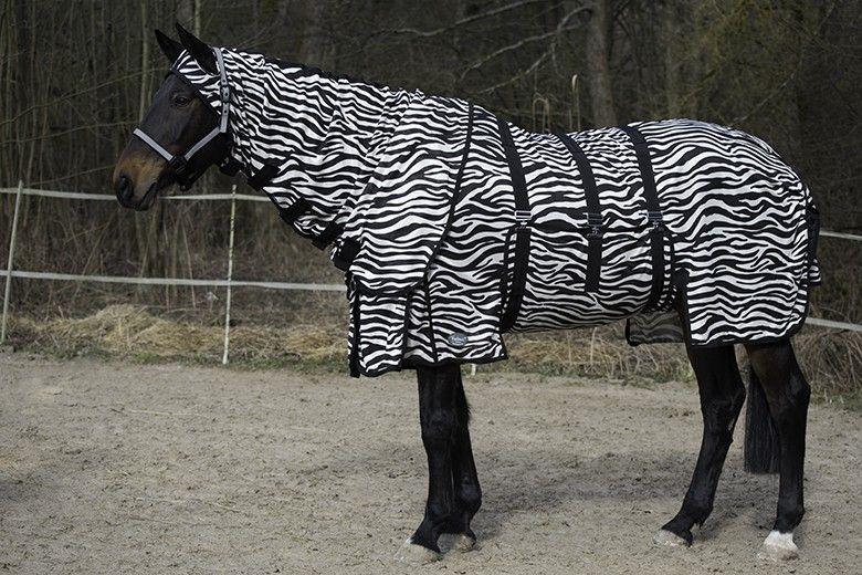 Fliegendecke Zebra mit Halsteil und Bauchlatz Free moving